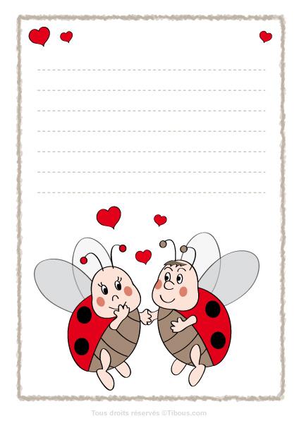 papier lettre St Valentin sur l'annuaire blog pour les nuls